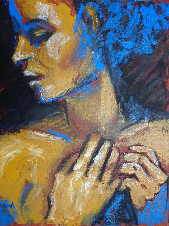Feminine Painting - Feminine - Portrait Of A Woman by Carmen Tyrrell