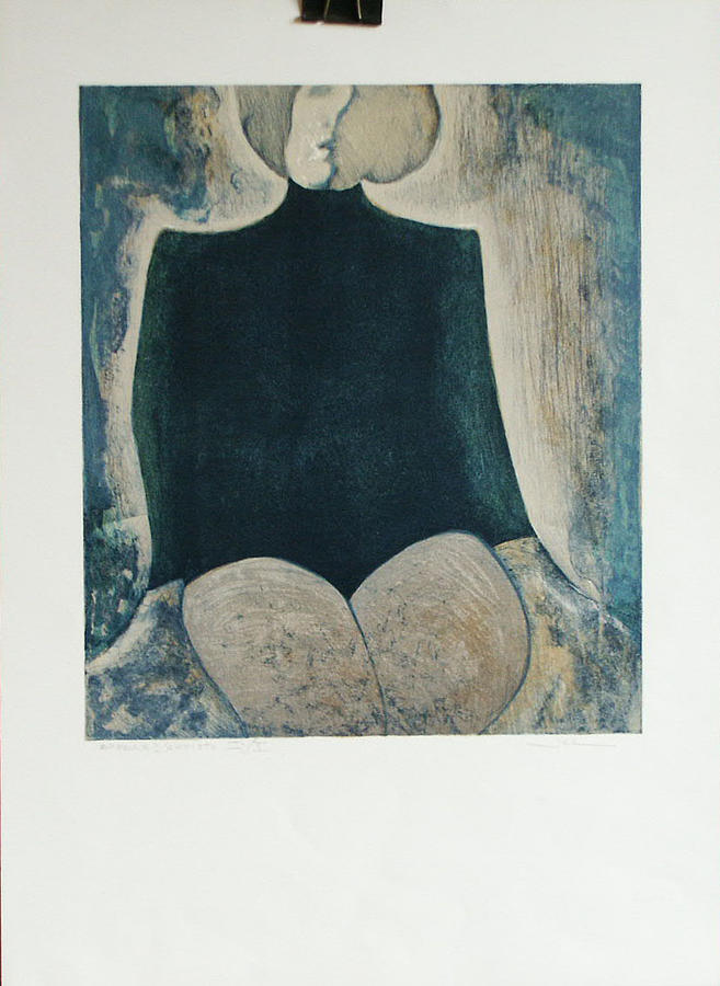 Woman Print - Femme Assise by James LeGros