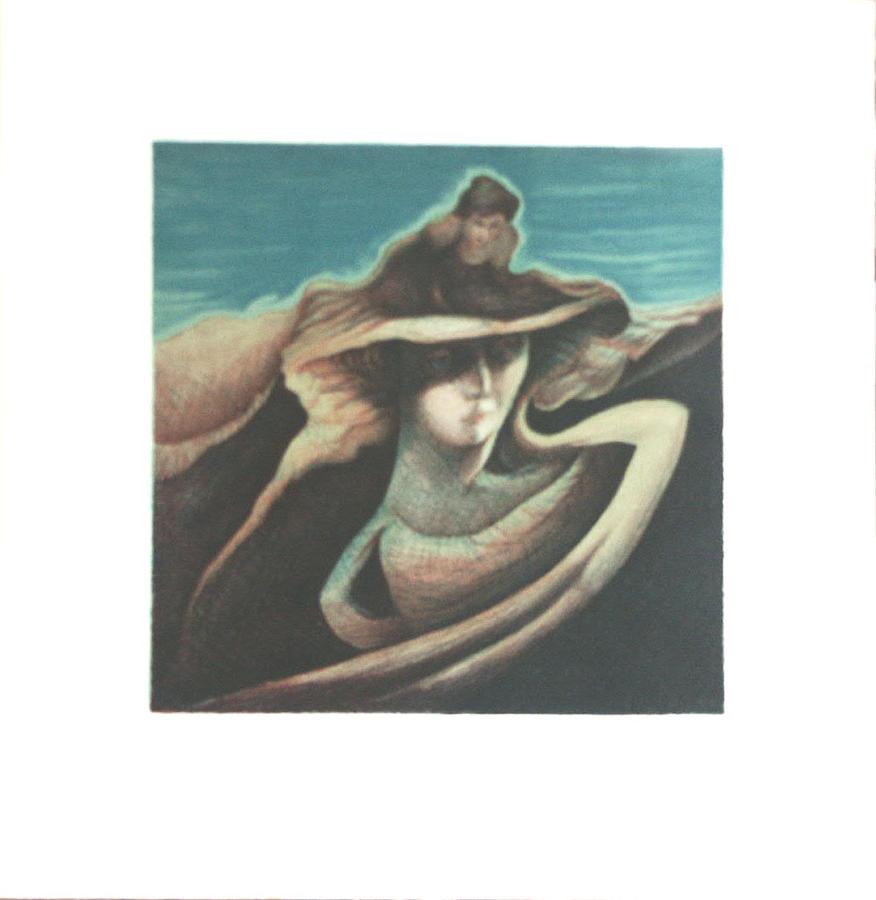 Woman Print - Femme Au Chapeau by James LeGros