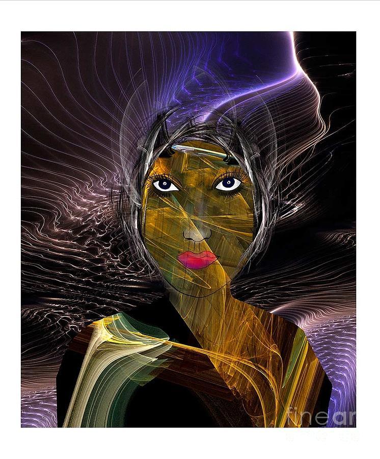 Mauve Digital Art - Femme Du Centaure by Degouges Cindy