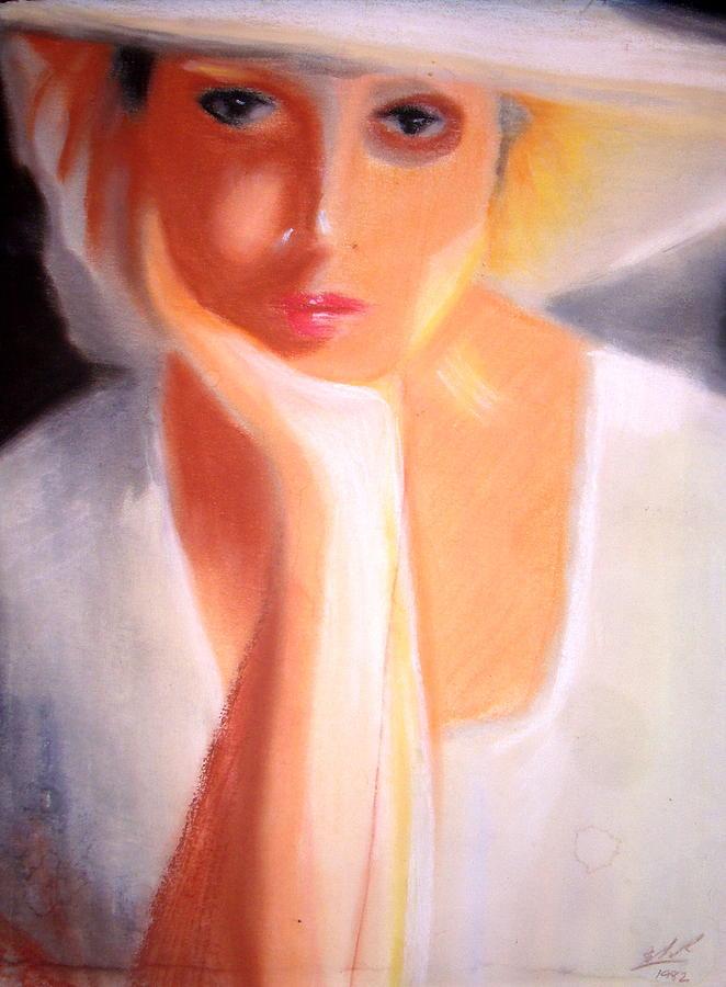 Girl Painting - Femme by Elsa ribeiro Aljezur
