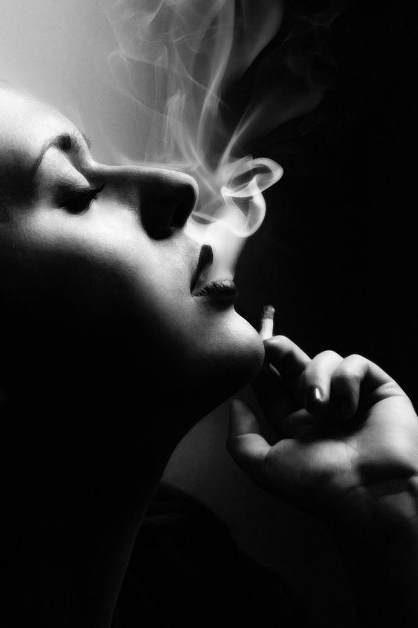 Smoke Photograph - Femme fatale by Cambion Art