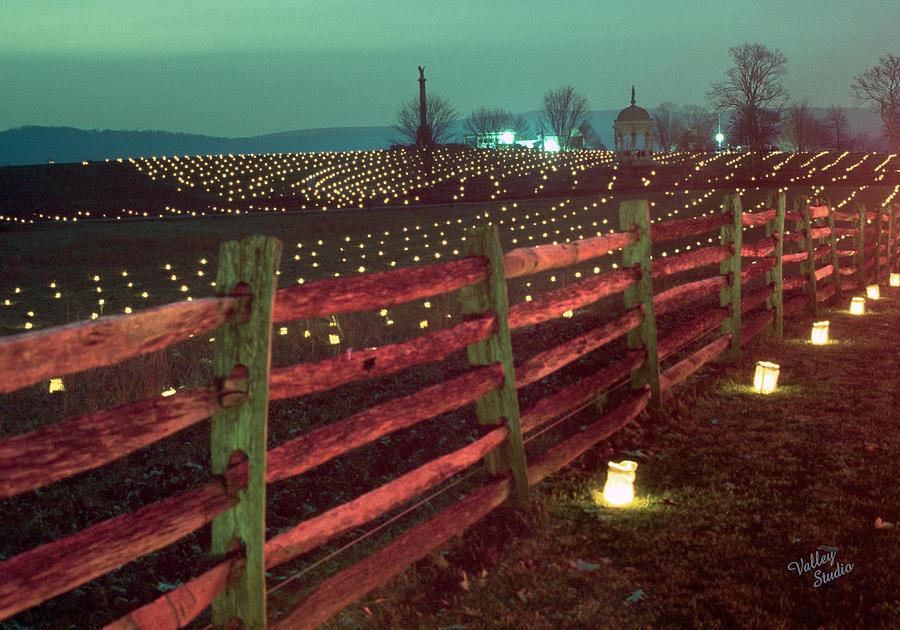 Antietam Battlefield Photograph - Fence And Luminaries 11 by Judi Quelland