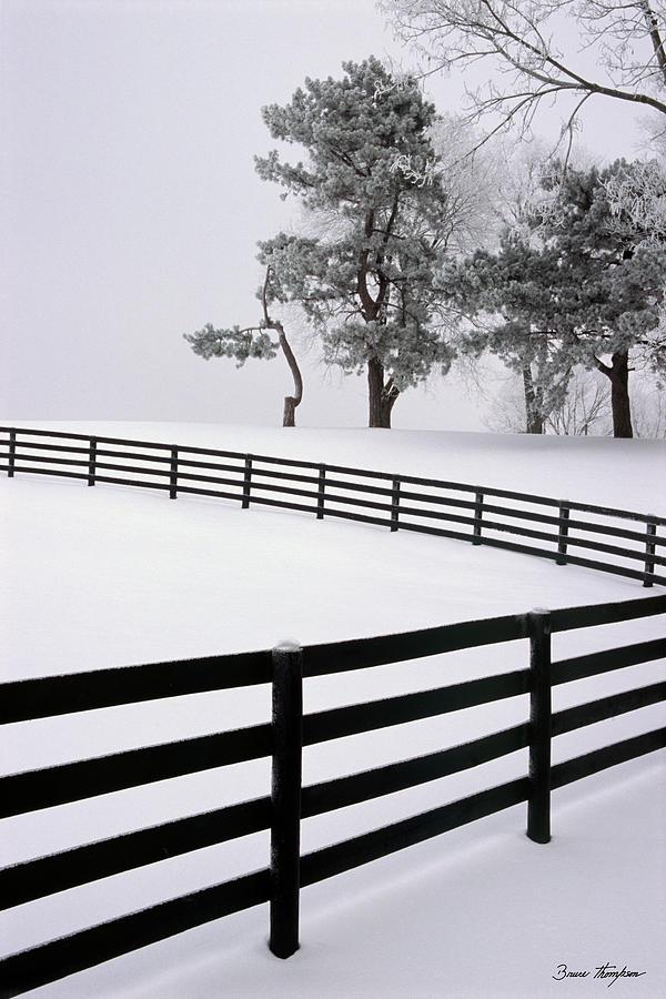 Fence Photograph - Zig Zag by Bruce Thompson