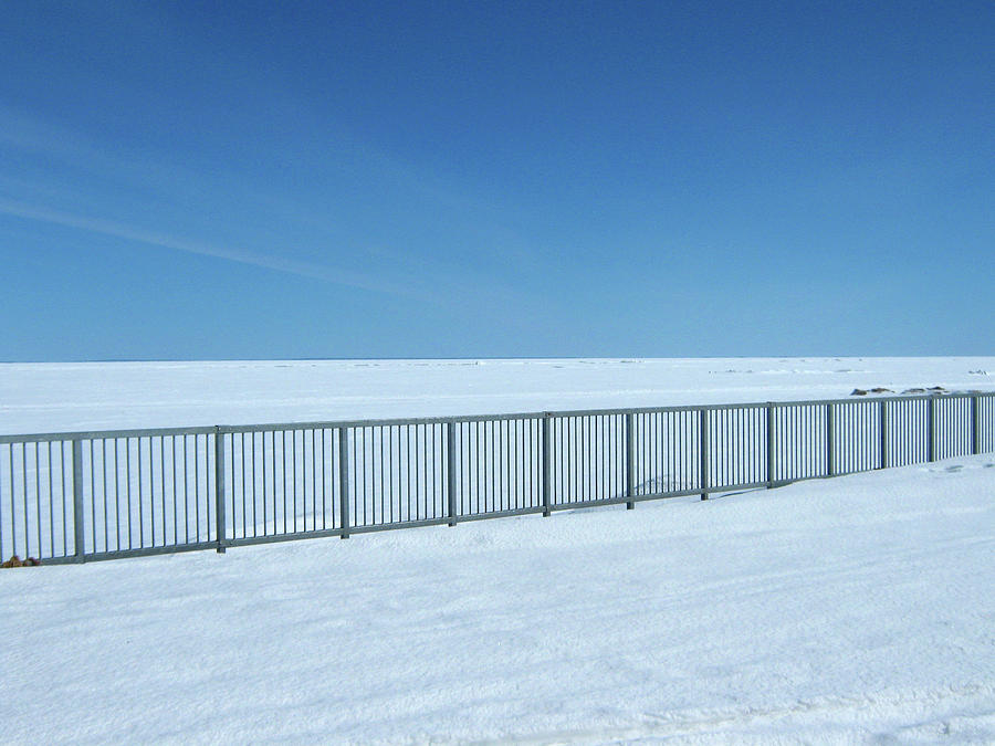 Fence Photograph - Fence In Snow by Emma Frost