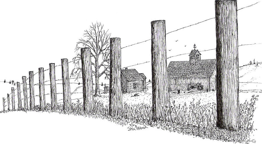Fence Drawing Plain With A