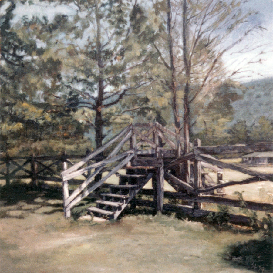 Virginia Painting - Fence Stile by Suzanne Shelden