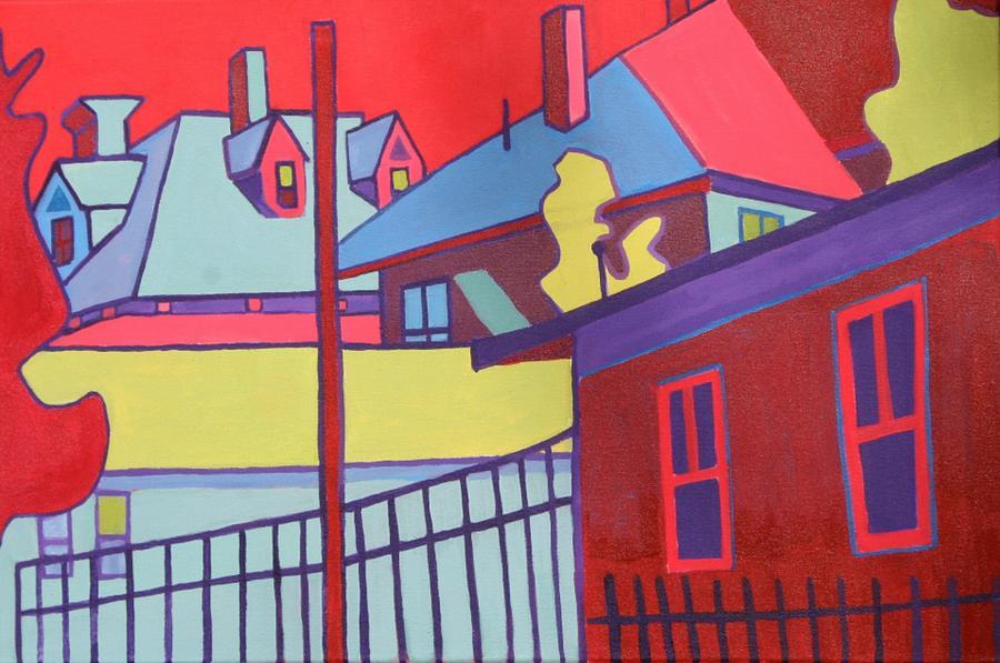 Landscape Painting - Fenced In  by Debra Bretton Robinson