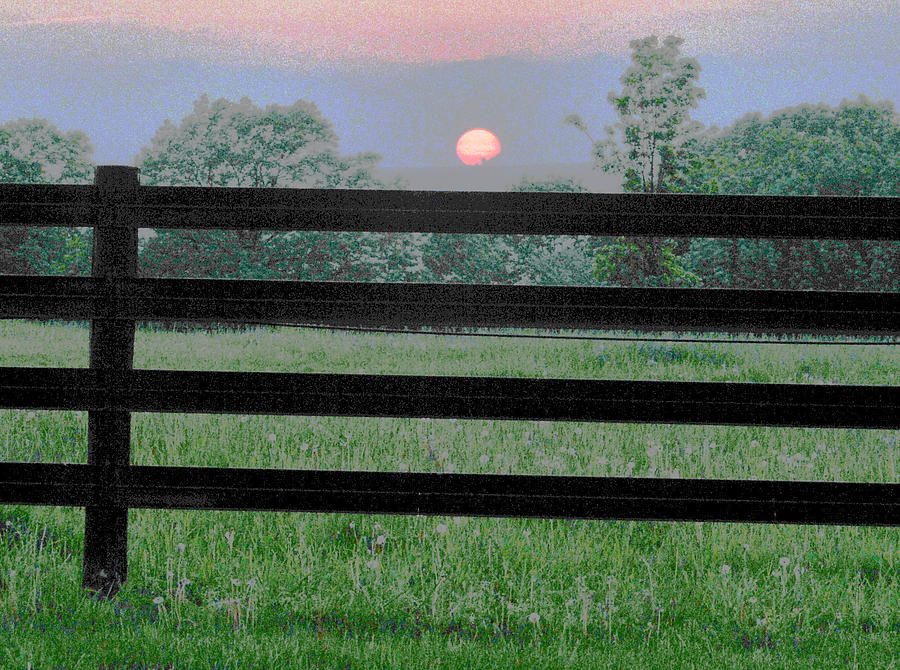 Fence Photograph - Fenced Sunset 2 by Brian Foxx