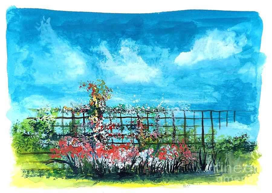 Fenceline Floral by David Neace