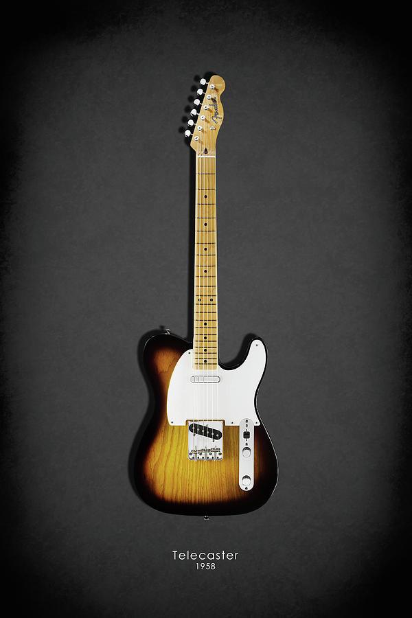 Fender Telecaster Photograph - Fender Telecaster 58 by Mark Rogan