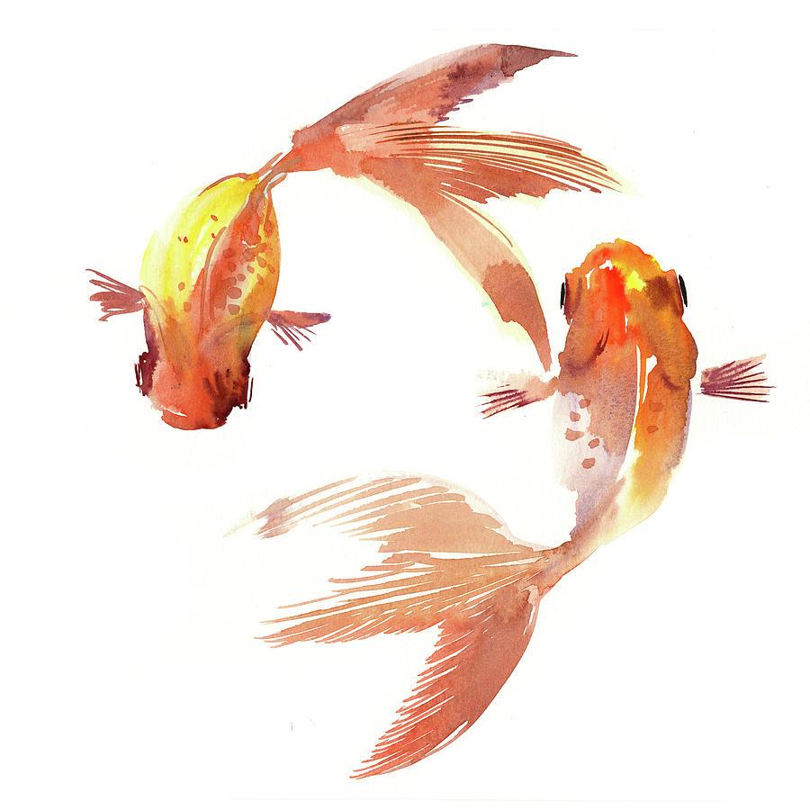 Feng shui koi fish painting by suren nersisyan for American koi fish