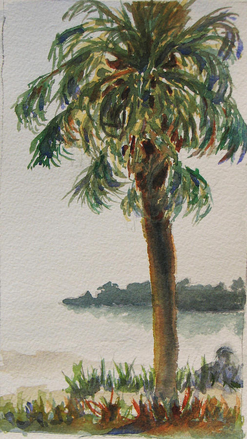 Palm Painting - Fennimore Palm by Libby  Cagle