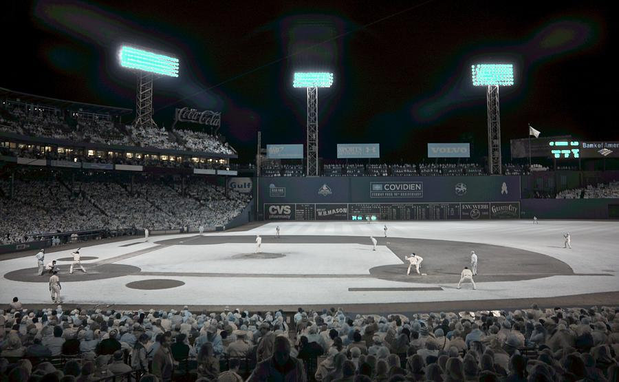Ballpark Photograph - Fenway Infrared by James Walsh