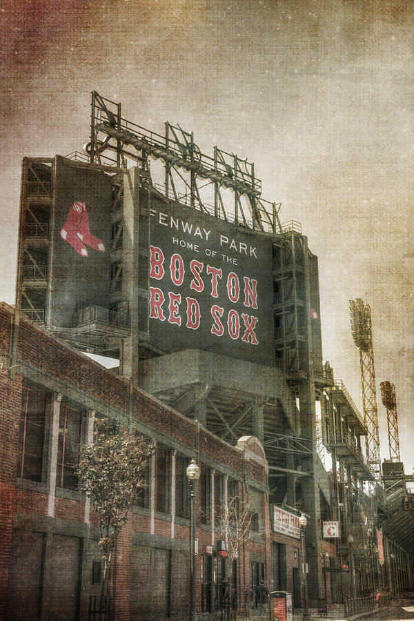 Red Sox Photograph   Fenway Park Billboard   Boston Red Sox By Joann Vitali