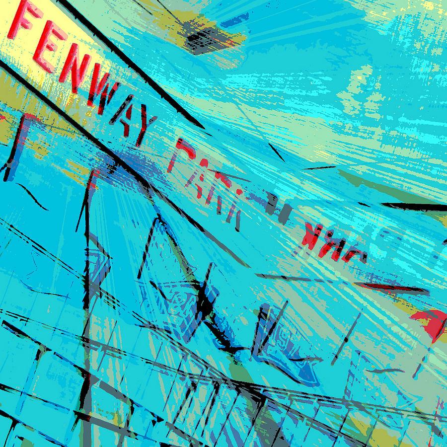Brandi Fitzgerald Digital Art - Fenway Park V1 by Brandi Fitzgerald