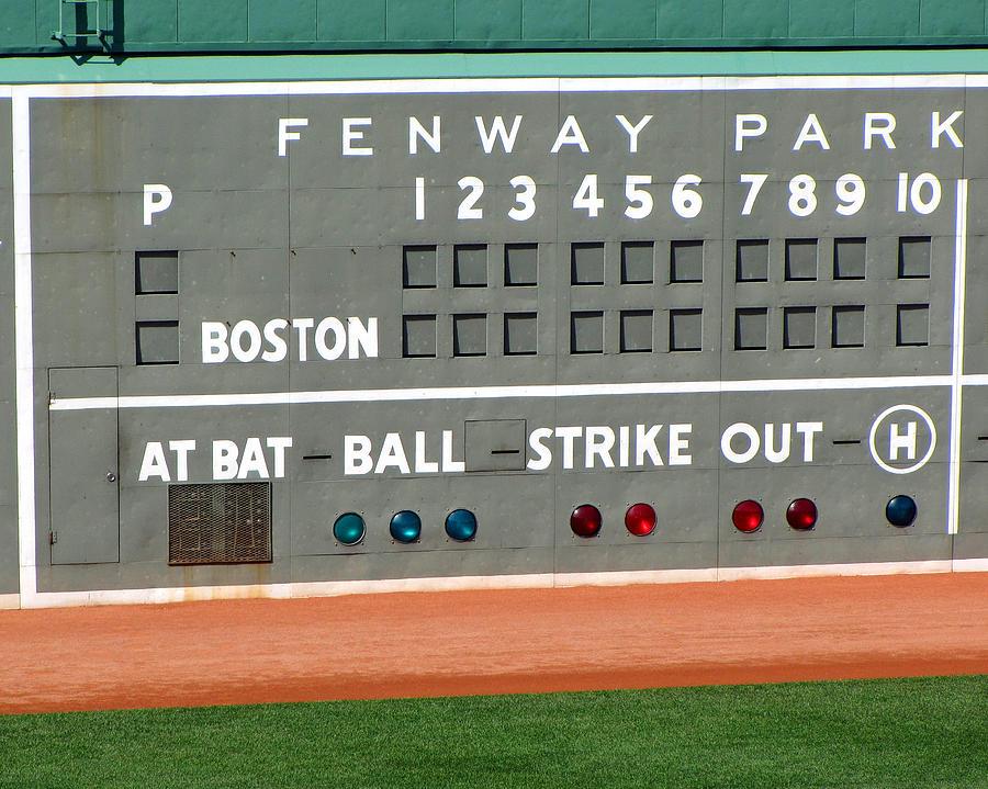 Fenway Park Scoreboard by Bart Blumberg