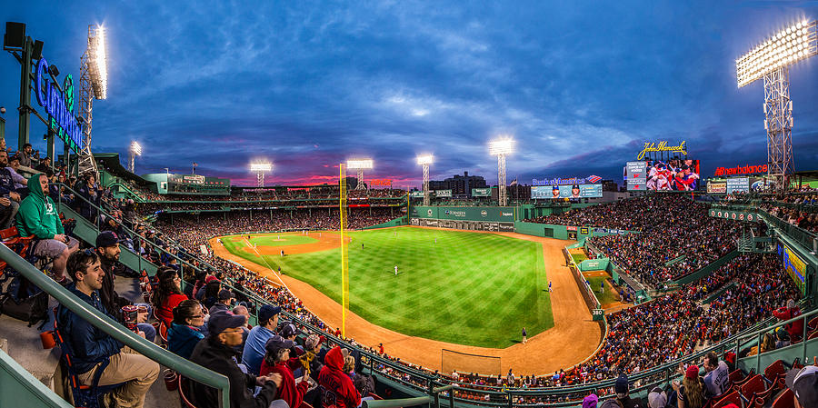 Boston Photograph - Fenway Park Sunset by Ryan McKee