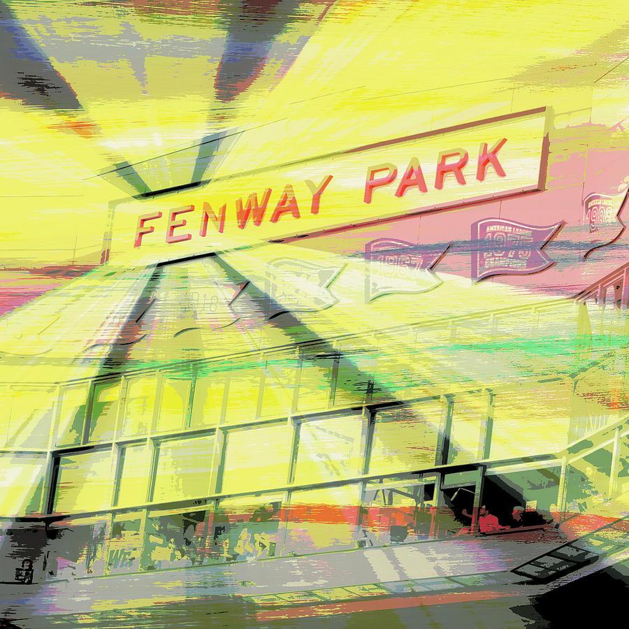 Fenway Park V2 Digital Art by Brandi Fitzgerald