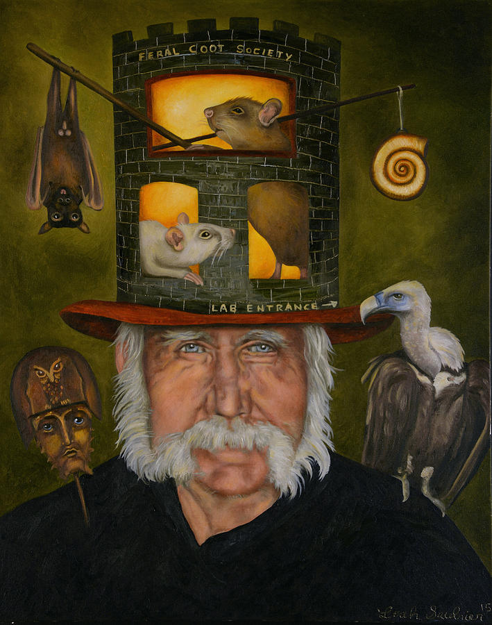 Portrait Painting - Feral Coot Society by Leah Saulnier The Painting Maniac