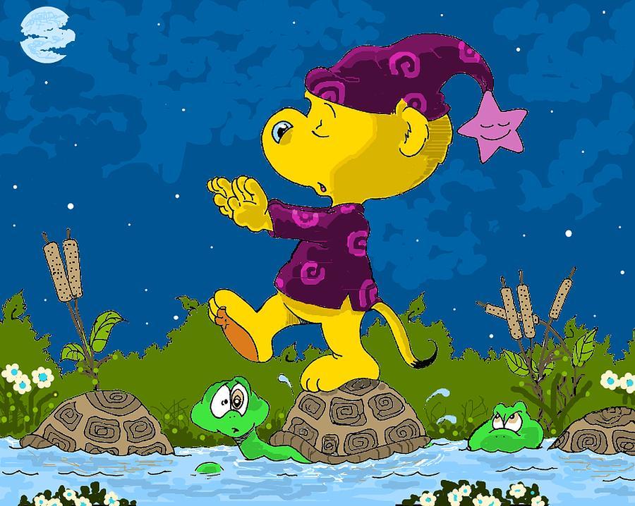 Turtles Drawing - Ferald Sleepwalking by Keith Williams