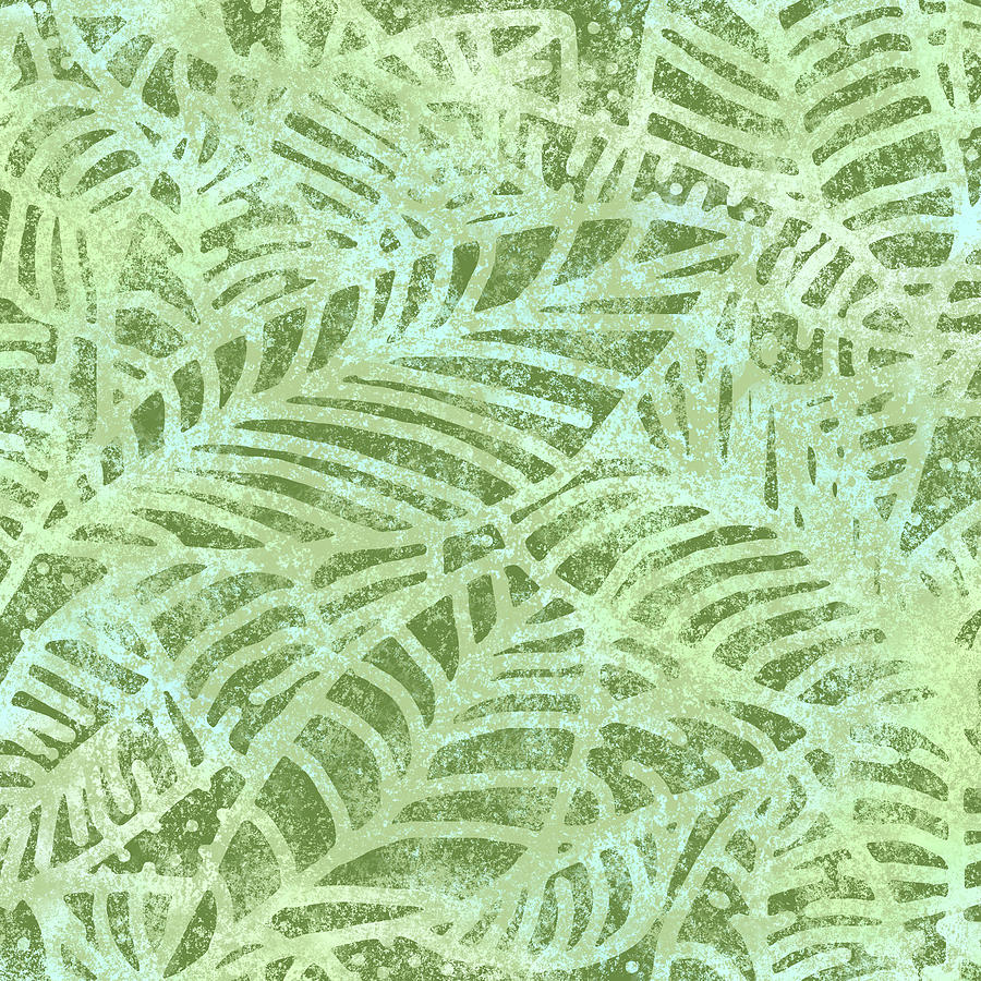 Fern Green Fossil Leaves by Karen Dyson