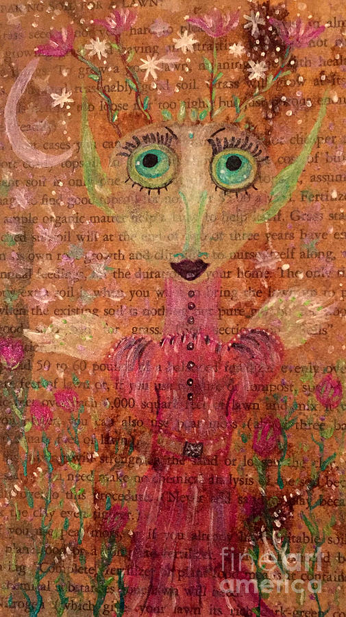 Fairy Painting - Fern by Julie Engelhardt