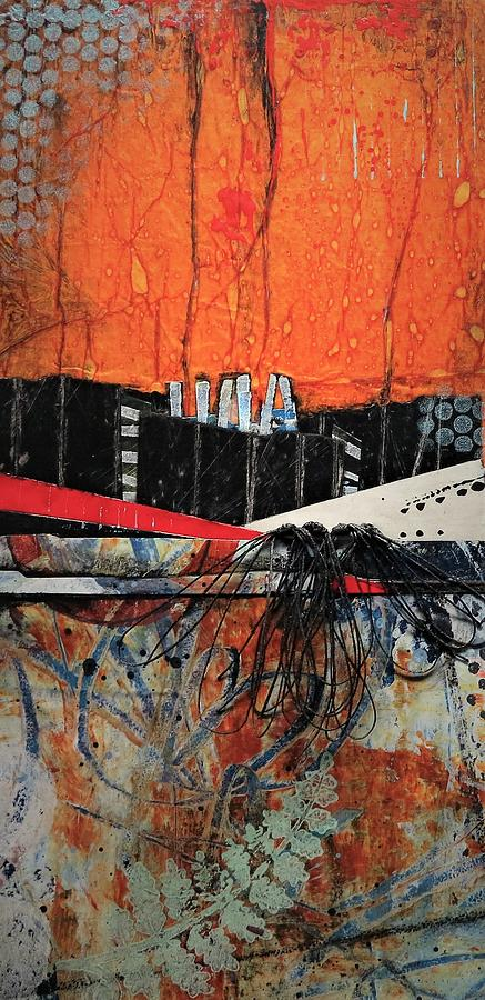 Collage Mixed Media - Fern Valley  by Laura Lein-Svencner