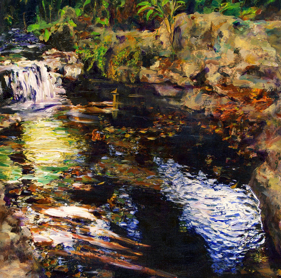 Creek Painting - Ferndale Creek by Randy Sprout