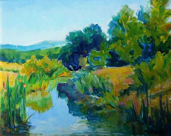 River Painting - Fernridge Inlet by Margaret  Plumb