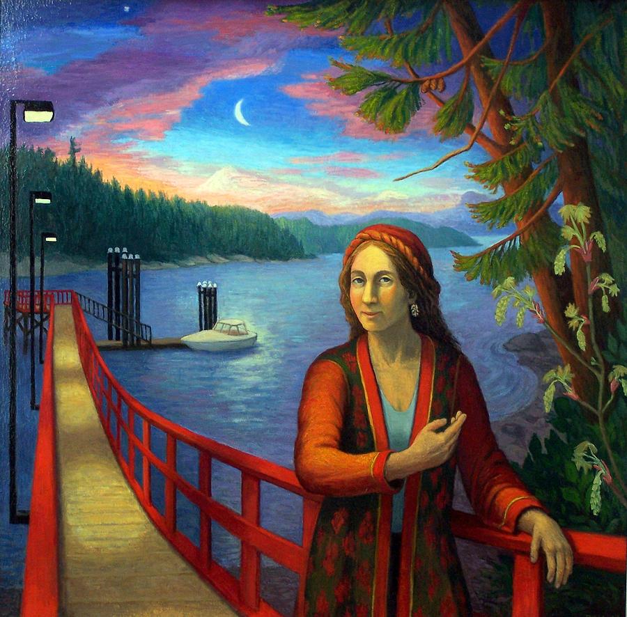 Figure Painting - Fernwood Dock by Diana Dean