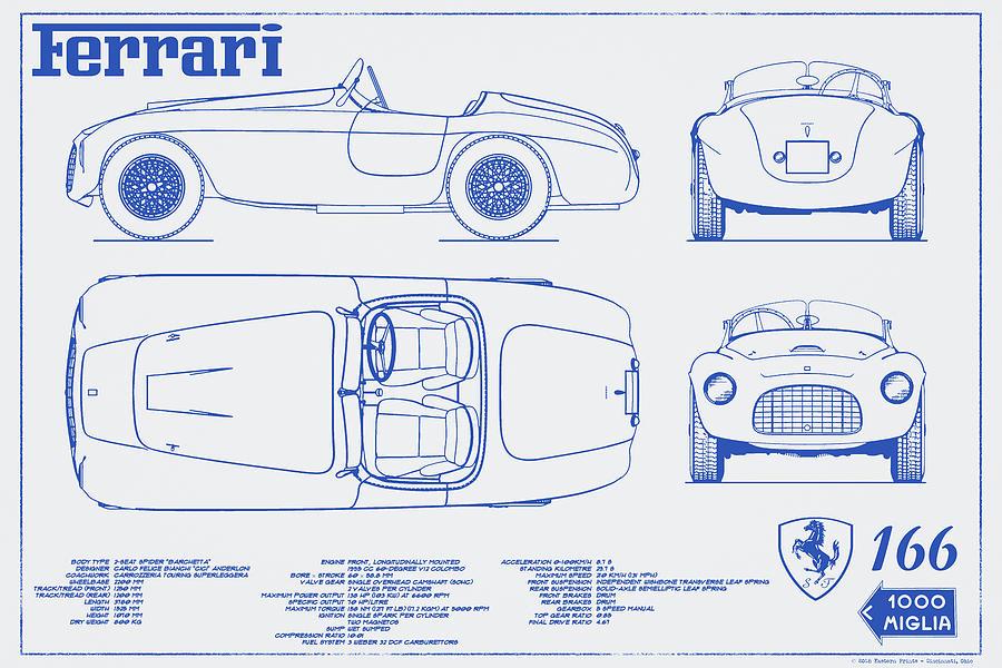 Ferrari 166 barchetta blueprint poster 2 digital art by eastern prints mille digital art ferrari 166 barchetta blueprint poster 2 by eastern prints malvernweather Gallery