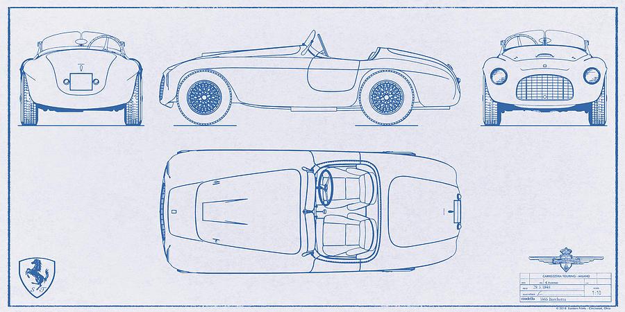 Ferrari 166 barchetta blueprint no 3 digital art by eastern prints ferrari digital art ferrari 166 barchetta blueprint no 3 by eastern prints malvernweather Choice Image