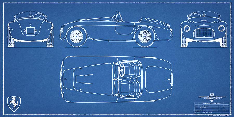 Ferrari 166 mm barchetta blueprint poster no 4 digital art by ferrari digital art ferrari 166 mm barchetta blueprint poster no 4 by eastern prints malvernweather Gallery