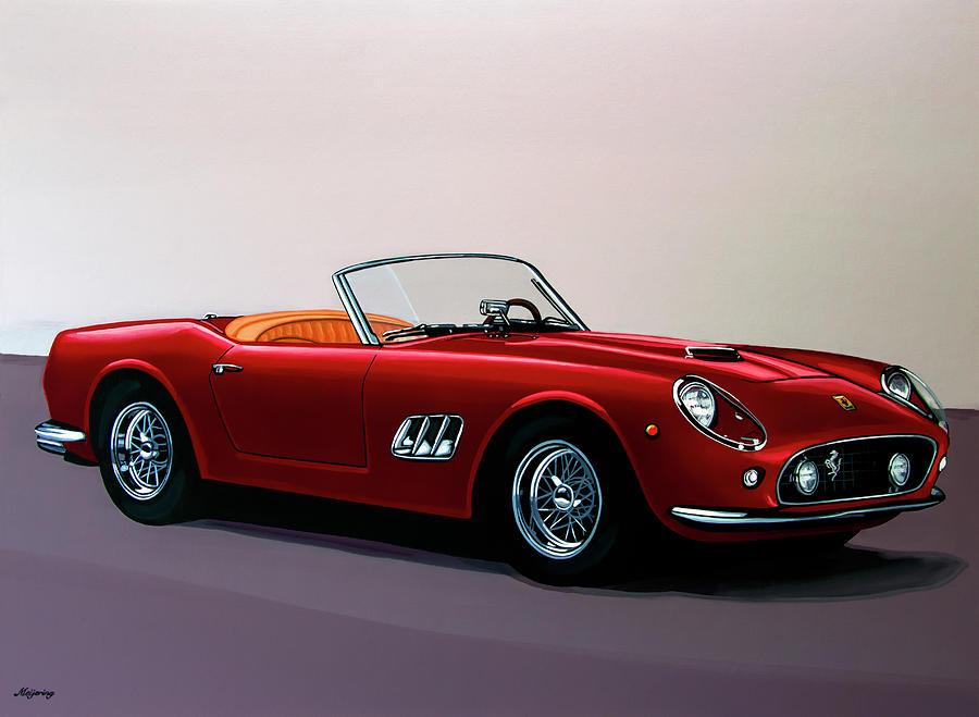 Ferrari 250 Gt California Spyder 1957 Painting Painting By Paul Meijering