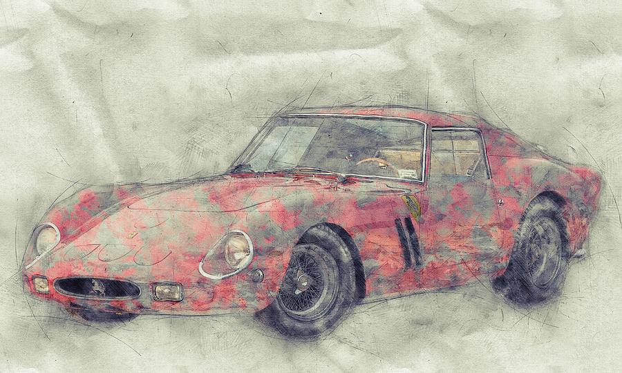 Ferrari 250 Gto 1 - Grand Touring Car - Sports Car - Automotive Art - Car Posters Mixed Media