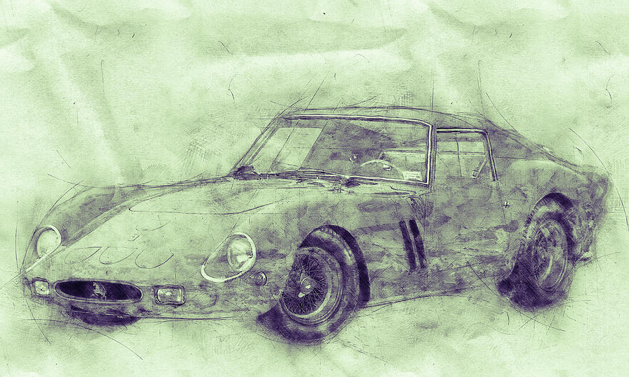 Ferrari 250 Gto 3 - Grand Touring Car - Sports Car - Automotive Art - Car Posters Mixed Media