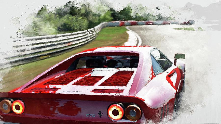 Ferrari Painting - Ferrari 288 Gto - 32 by Andrea Mazzocchetti