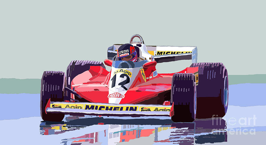 Motorsport Digital Art - Ferrari 312 T3 1978 Canadian Gp by Yuriy  Shevchuk