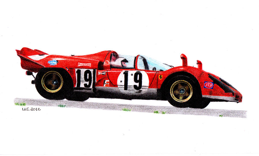 Formula 1 Painting - Ferrari 512s Mario Andretti 1970 by Ugo Capeto
