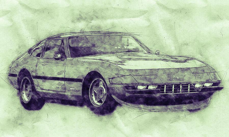 Ferrari Daytona 3 - Ferrari 365 Gtb4 - Sports Car - Automotive Art - Car Posters Mixed Media