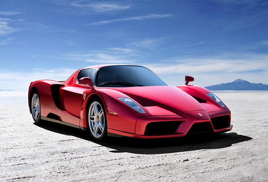 Italian Digital Art - Ferrari Enzo by Douglas Pittman