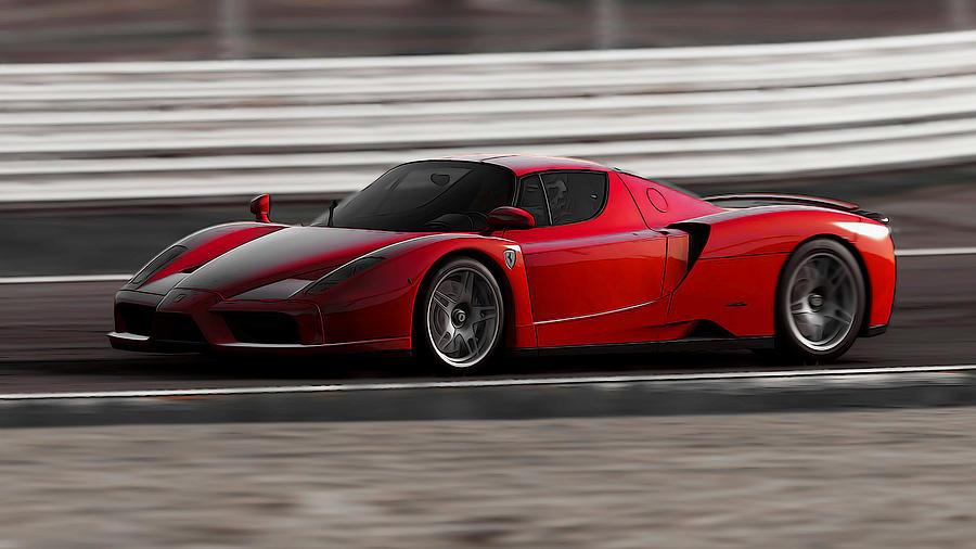 Ferrari Painting - Ferrari Enzo - Rosso Corsa by Andrea Mazzocchetti