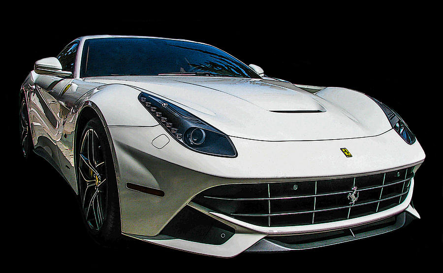 Ferrari Photograph - Ferrari F12 Berlinetta In White by Samuel Sheats