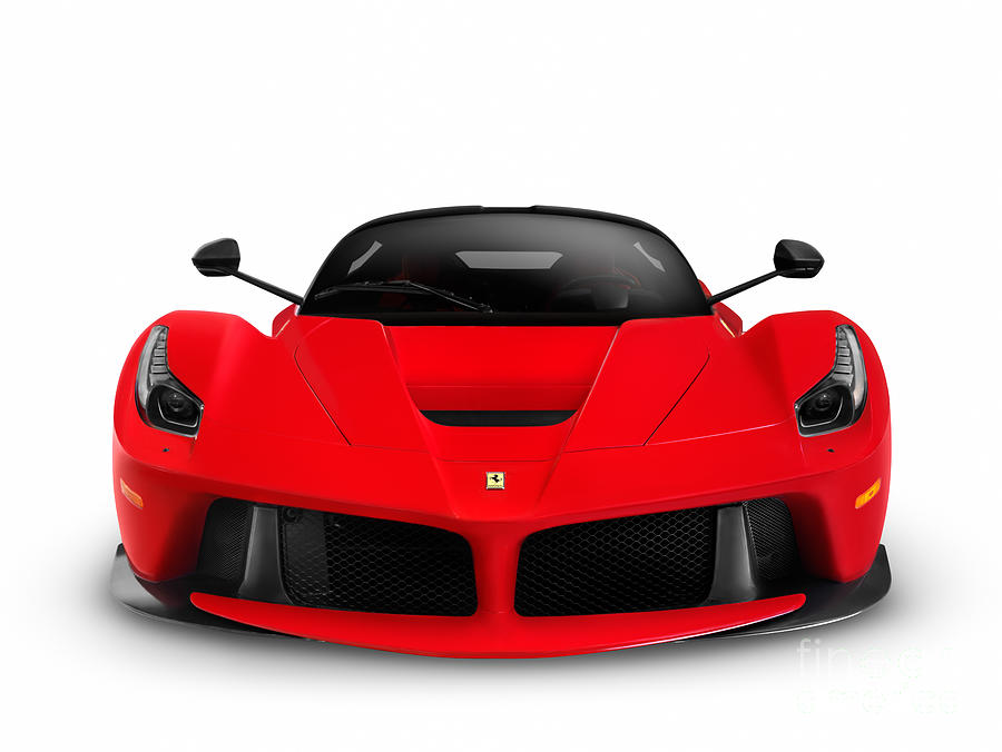 Ferrari Laferrari Supercar Sports Car Front View Photograph