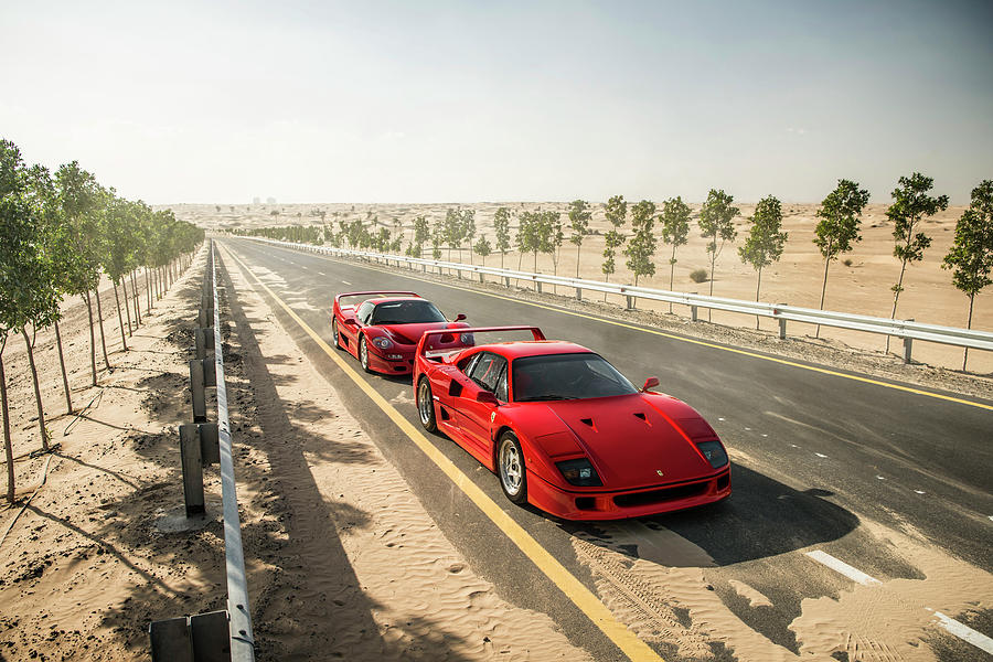 Ferrari F40 And F50 Photograph by George Williams