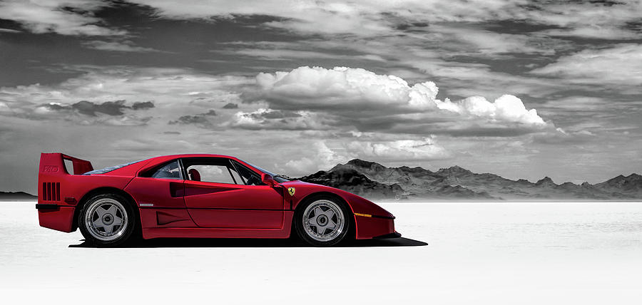 Ferrari Digital Art - Ferrari F40 by Douglas Pittman