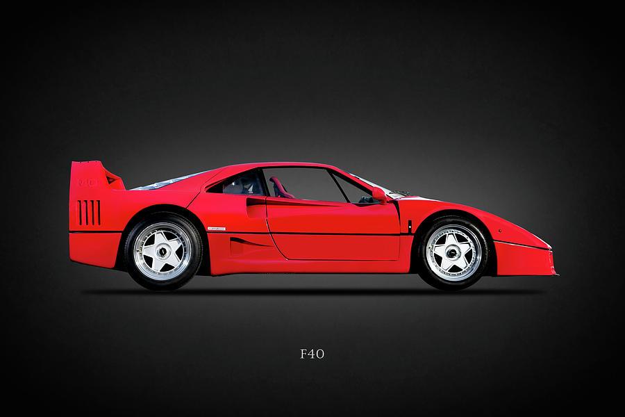 Ferrari F40 Photograph - Ferrari F40 by Mark Rogan