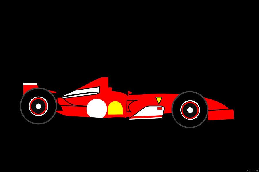 Ferrari Digital Art - Ferrari Formula One by Asbjorn Lonvig