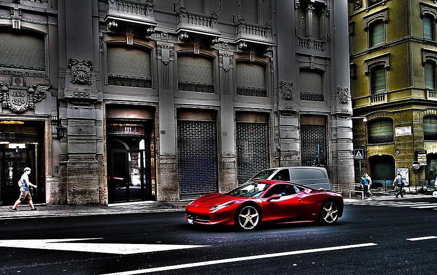 Ferrari Photograph - Ferrari In Rome by Effezetaphoto Fz